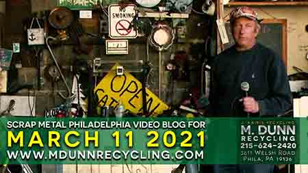 Philadelphia Scrap Metal Prices Blog for March 11th, 2021. Port Richmond 19134 Fishtown 19025 Scrap Prices have started to rise. So call 215-624-2420 fir up to date prices. We pay Cash for ALUMINUM CANS AND COPPER. J Karis Recycling formerly M Dunn Recycling Center located at 3611 Welsh Road Philadelphia PA 19136